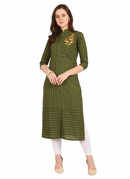 Velentino Rayon Party Wear Casual Wear Embroidery Work Stylish Kurtis Collections