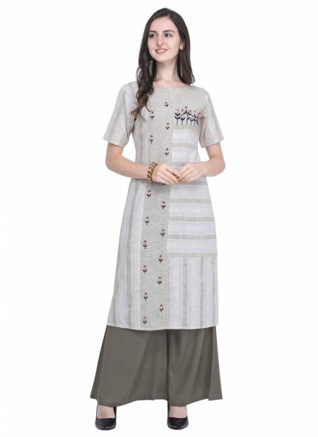 Velentino Rayon Strip Print Hand Work Latest Designer Party Wear Casual Wear Stylish Kurtis Collections