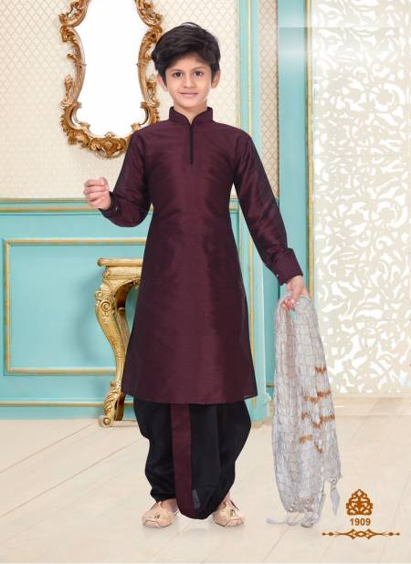 New Party Wear Designer Fancy Heavy Banarasi Brocade, Linen Cotton and Dupion Silk Kids Kurta Payjama Collection
