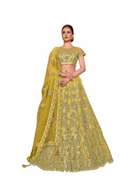 TAZARA NAYONIKA Mohmayaa 16600 Latest Fancy Heavy Designer wedding Wear Net With Satin Silk Cord Resham Sequins Embroidery Lehenga Choli Collection