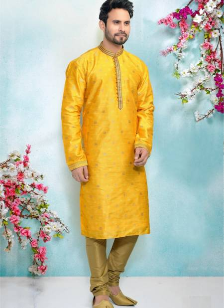 Designer Latest Party And Function Wear Traditional Pure Jaquard Silk Brocade Kurta Pajama Redymade Collection