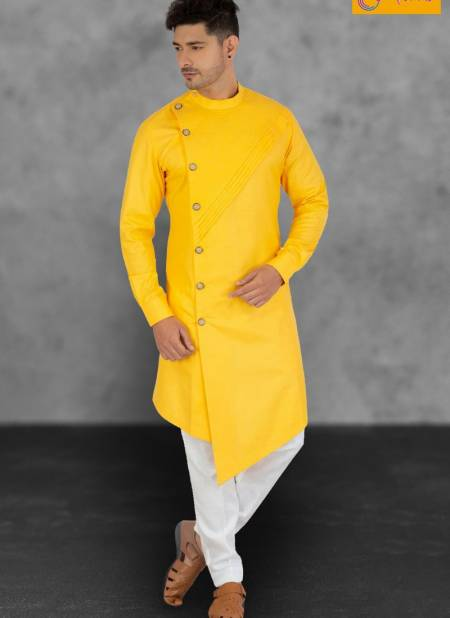 Outlook Vol 9 Eid Special Cotton Regular Wear Designer Plain Side Cut Kurta Pajama Collections