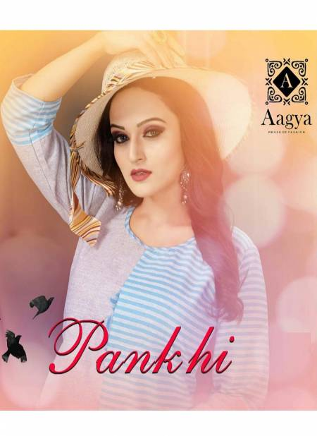 Aagya Pankhi Latest Casual Wear Printed Cotton Kurti Collection
