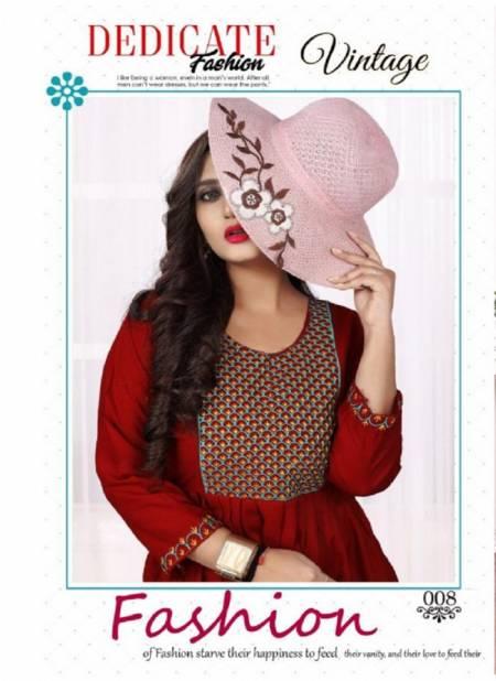 Aagya Vintage 2 Latest Fancy Ethnic Wear Designer Rayon Flair Kurti Collection