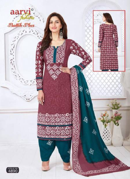 Aarvi Batik Plus Vol 1 Latest Regular Wear Printed Cotton Dress Material With Mal Mal Dupatta