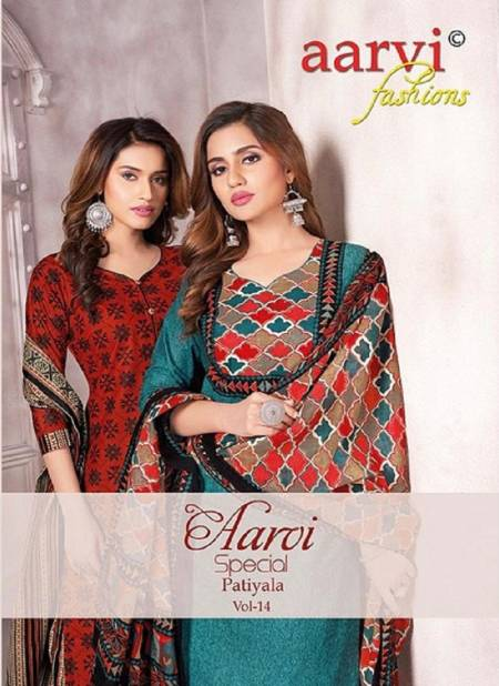 Aarvi Special Patiyala 14 Latest Fancy Designer Casual Wear pure cotton Printed Readymade salwar Suit Collection
