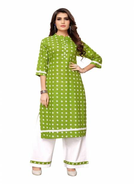 Ab Kurti Plazo 1 Casual Wear Designer Printed Traditional Festival Wear Cotton Kurti With Flex Bottom Collection