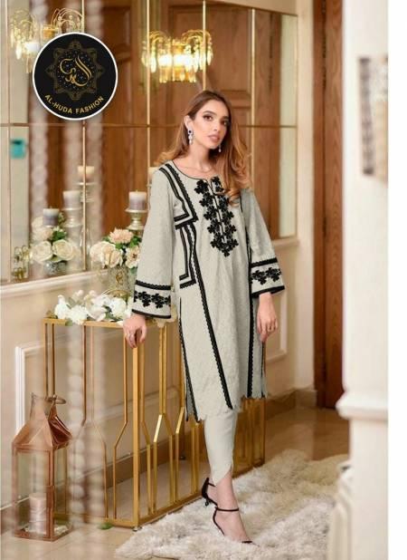 Al Huda Fashion 1117 Latest Designer Fancy Ethnic Wear  jam satin With Self Print Readymade Collection