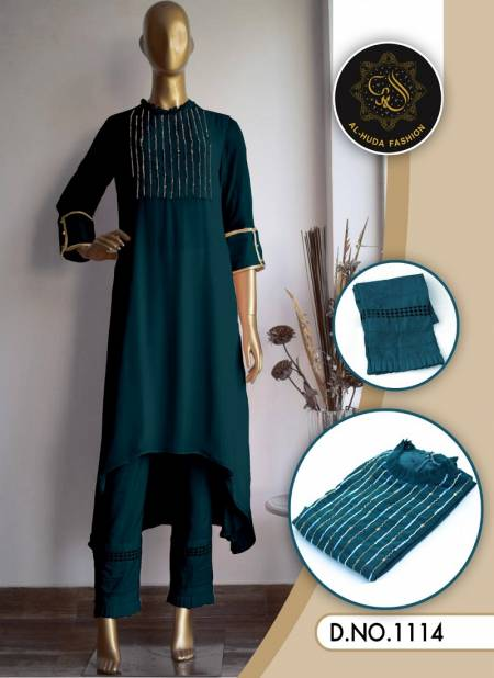 Al Huda Fashion Latest Designer faux Georgette Festive Wear Reaymade Suit Collection