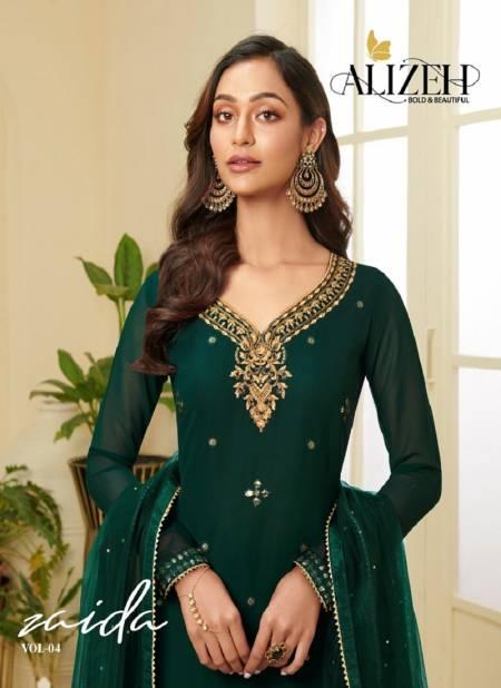 Alizeh Zaida 4 Latest Fancy Festive Wear Heavy Georgette Designer Salwar Suits Collection