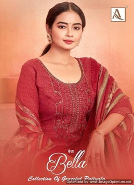 Alok Bella Latest Exclusive Daily Wear Pure Pashmina Self Print with Exclusive Embroidery Work Designer Dress Material
