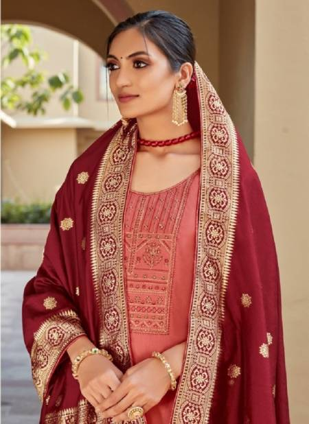 Alok Charvi Latest fancy Regular Wear Pure Jam Cotton with Fancy Designer Embroidery Dress Material Collection