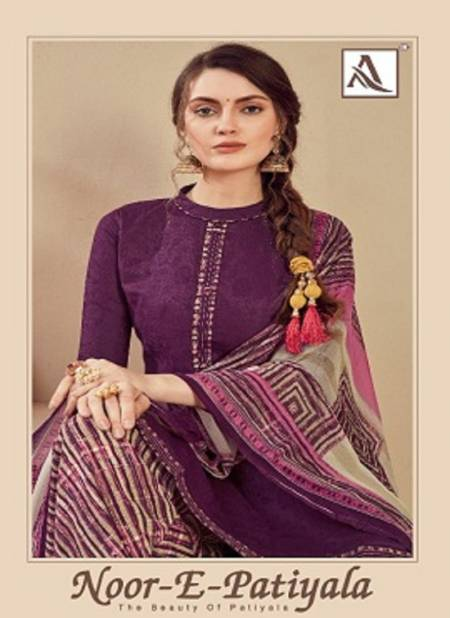 Alok Noor E Patiyala Latest Designer Printed Jam Dress Material Collection
