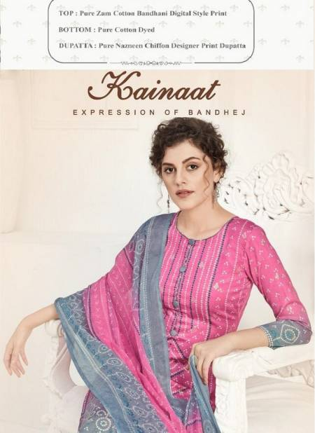 Alok Suit Kainaat Pure Zam Cotton Bandhani Digital Style Print with Foill Work Plazzo Salwar Suit Collections