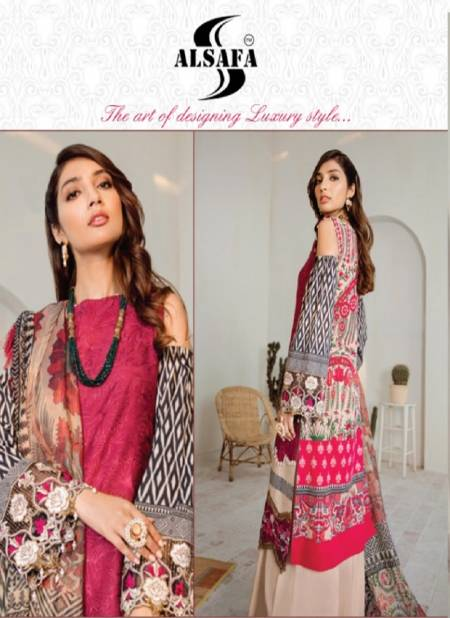 Alsafa Sana Safinaz Latest Designer Printed Karachi Silk Dress Material Collection