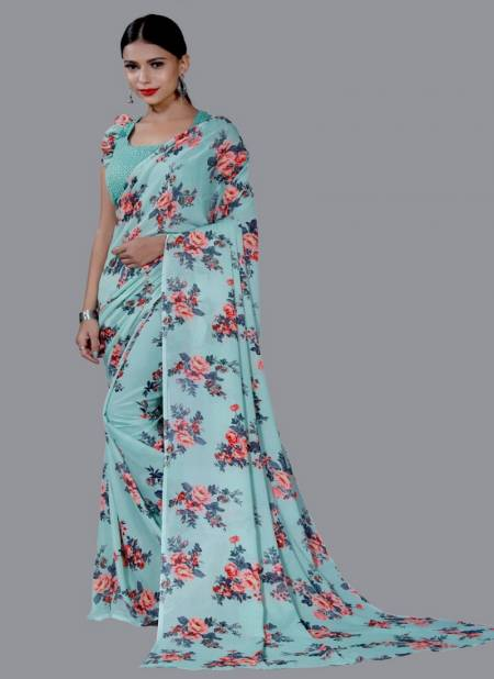 Anarika 25 Latest Fancy Regular Casual Wear Floral Printed Georgette Sarees Collection
