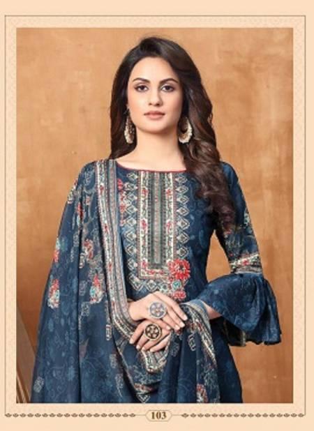 Anita Kesariya Noor Latest fancy Regular Wear Pure Cambric Digital Printed Designer Dress Material Collection