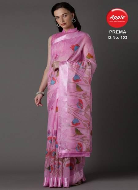 Apple Prema Exclusive Party wear Designer Cotton Blend Saree Collection