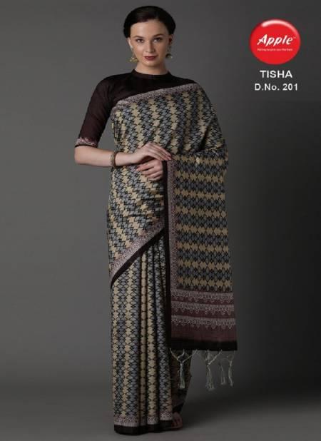 Apple Tisha 2 Latest Fancy Casual Business Wear  Bhagalpuri Silk Sarees Collection