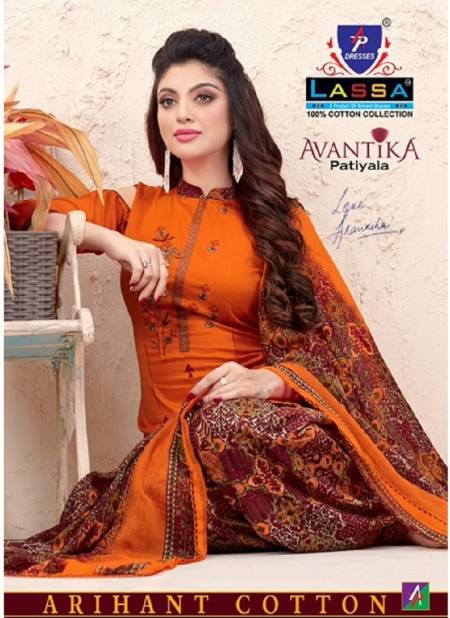 Arihant Lassa Avantika Latest fancy Designer Regular Casual Wear Printed Patiyala Dress Material Collection