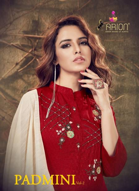 Arion Padmini Vol 2 Latest Collection Of Ready Made Designer Viscouse With Handwork Casual Wear Dress With Viscose Seded Dupatta