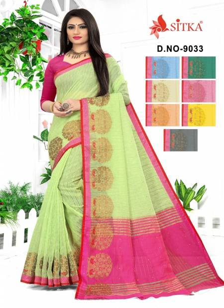 Arohi 9033 Latest Fancy Casual Wear Cotton Silk Stone Work Sarees Collection