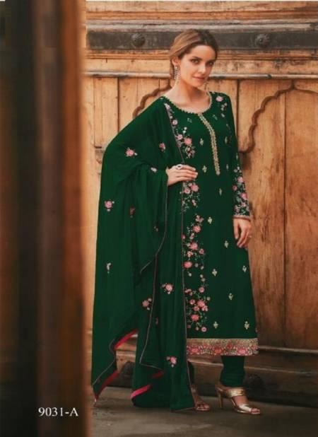 Avon Trendz 9031  Festive Wear Heavy Faux Georgette Embroidered Work Salwar Suit And Dupatta Latest Designer Suits Collection