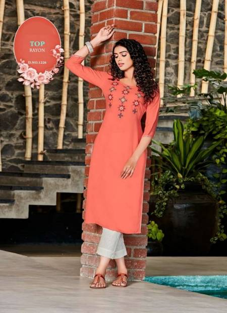 Awesome 3 Latest Fancy Designer Long Casual Wear Rayon Kurtis Collection