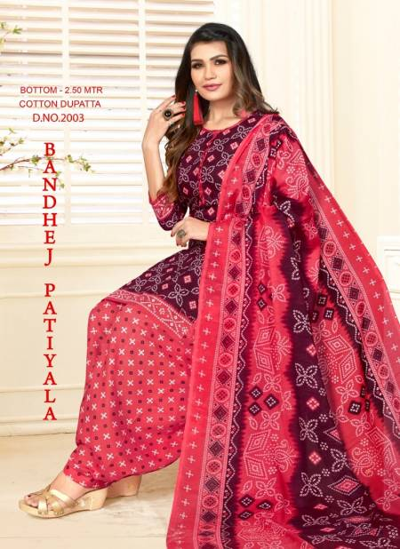 BANDHEJ PATIYALA VOL-2 Latest Designer Regular Wear Pure Cotton printed Readymade Salwar Suit Collection