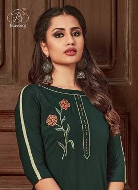 Banwery Kangana 2 Exclusive Fancy Designer Rayon With Embroidery Top With Bottom Collection