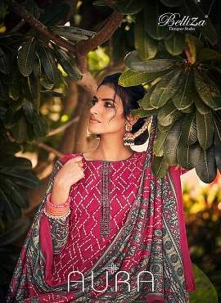 Belliza Aura Exclusive Collection Of Premium Designer Pure Pashmina Digital Printed Dress Material
