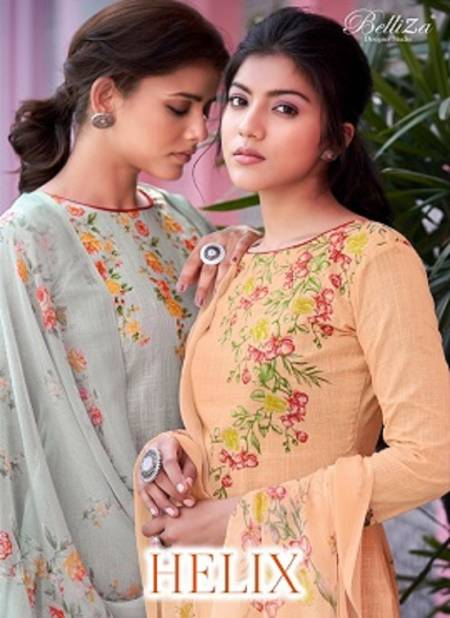 Belliza Helix Latest Fancy Regular Wear Digital Printed Designer Pure Cotton Dress Material Collection