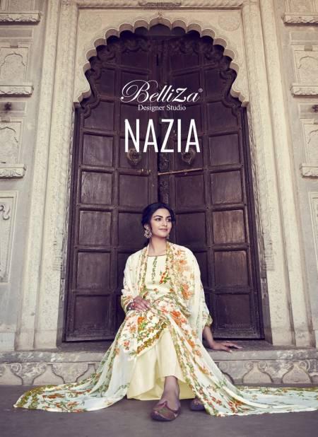 Belliza Nazia Latest Fancy Designer Casual Regular Wear Pure Cotton Designer Dress Material Collection