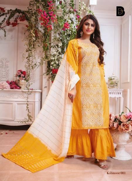 Benbaa Kohinoor Latest Fancy Designer Heavy Festive Wear Viscose Chanderi Fancy Readymade Salwar Suit Collection