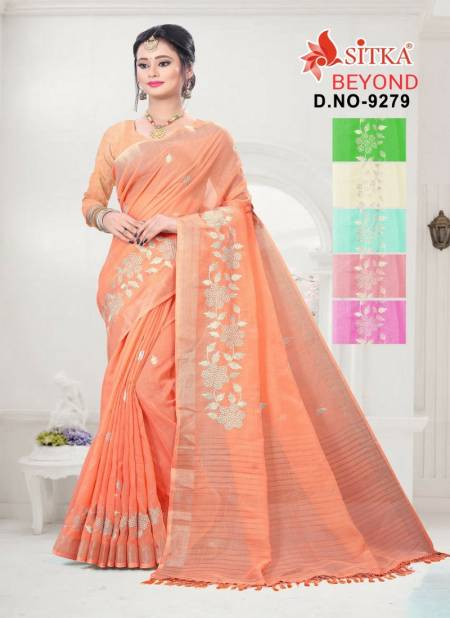 Beyond 9279 Latest Fancy Designer Casual Wear Heavy Embroidery Cotton Sarees Collection