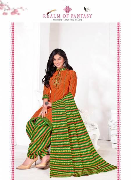 Bindee Creation Kudi Patiyala Latest pure Cotton Printed Dress Material