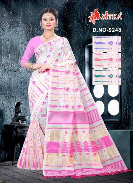 Bomkai 9248 Cotton Latest Fancy Designer Casual Wear Poly Cotton Saree Collection