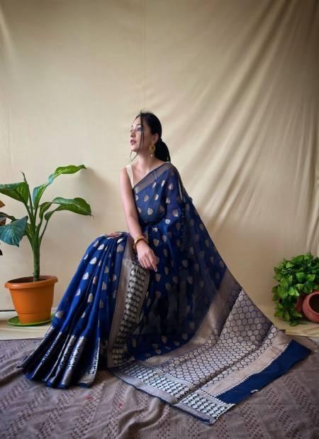 Bt 55 Festive Wear Designer Fancy Weaving Soft Cotton Saree Collection