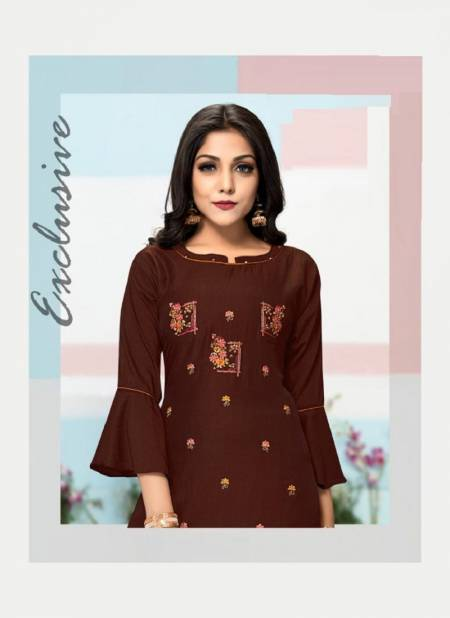 C9 Zenith Latest Festive wear Heavy Finest Quality Of Chinon Silk  Embroidery Kurti With Cotton Bottom Collection
