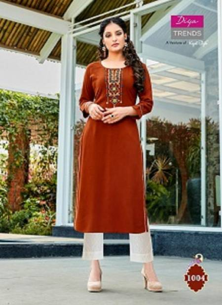 Casual Diaries 1 Latest Fancy Designer Casual Wear Heavy Embroidery Work Rayon Kurtis Collection