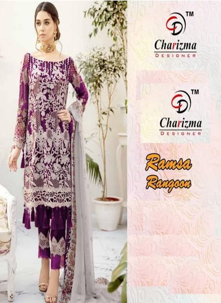 Charizma Ramsha Ragoon Exclusive Georgette Heavy Embroidery Worked Festival Wear Pakistani Salwar Suits Collection