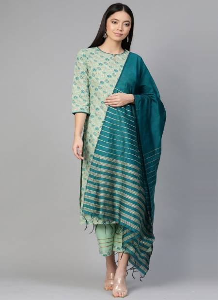 Colors Of Era 5 Latest Casual Wear Ready - Made Printed Pure Cotton Plazzo Suit Collection