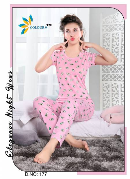 Colour 9 Exclusive Printed  Hosiery Night Wear Collection