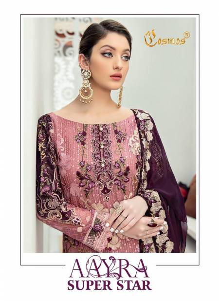 Cosmos Aayra Superstar Latest Fancy Designer Festive Wear Fox Georgette With Heavy Embroidery Pakistani Salwar Suits Collection