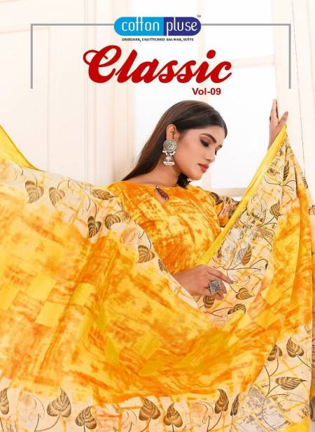 Cotton Pluse Classic 9 Latest Designer Daily Wear Pure Cotton Printed dress Material Collection