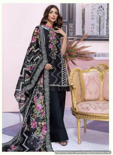 Deepsy Firdous Latest Designer Cotton Pakistani Suits Collection With Mal Mal Dupatta