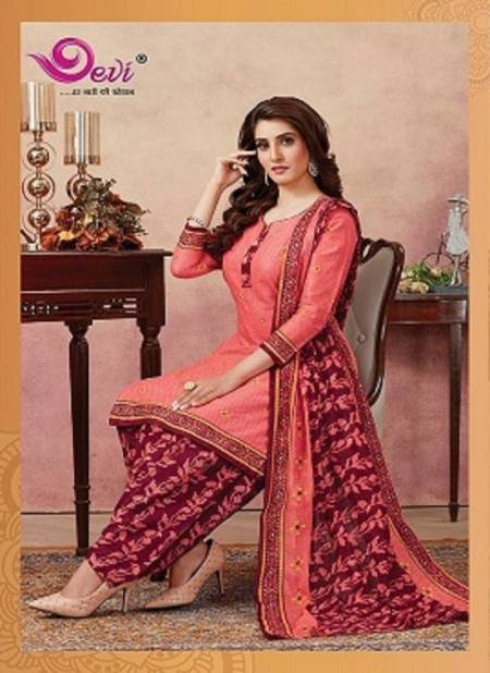 Devi Khushi Latest Printed Patiala Regular Wear Pure Cotton Readymade Collection