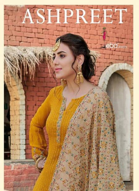 EBA LIFESTYLE ASHPREET Latest Fancy Feavy Designer Festive Wear Heavy Chinon with Embroidery And Diamond Work Salwar Suit Collection