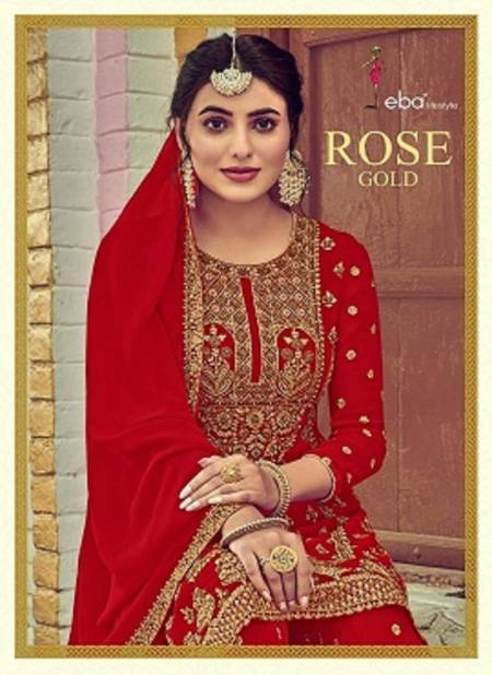 Eba Rose Gold Latest Wedding Wear fancy Foux Georgette With Embroidery Work And Khatli Diamond Work Salwar Kameez Collection