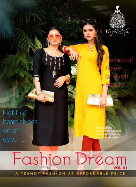 Fashion Dream 1 Kajal Fancy Designer Style Casual Wear Kurtis With Bottom Collection